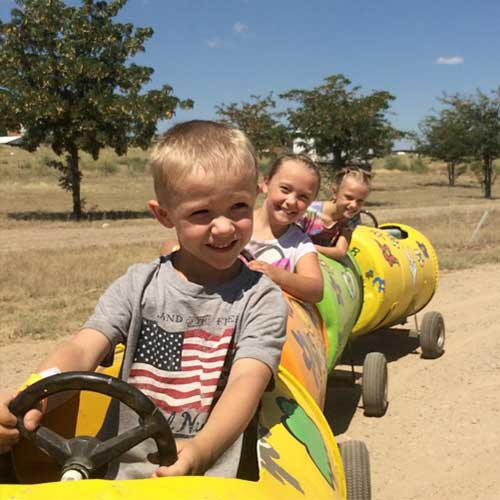 Fall Wagon rides through the farm during our sweet corn and pumpkin festivals.