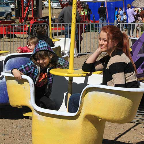 Join in on the fun of our carnival rides available during our fall sweet corn festival and pumpkin festivals!